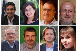 Así son los candidatos que aspiran a presidir el Govern balear