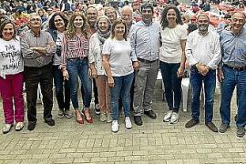 Multitudinaria comida del PSIB-PSOE en la Plaça des Pou de Maria