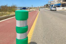 El Consell 'apaña' de manera provisional la protección del carril bici de sa Ràpita
