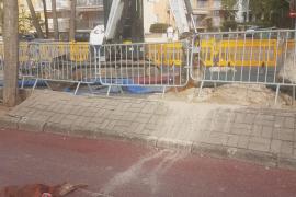 Dos meses para reparar una tubería de aguas fecales