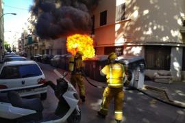 Fuego en un contenedor de Palma