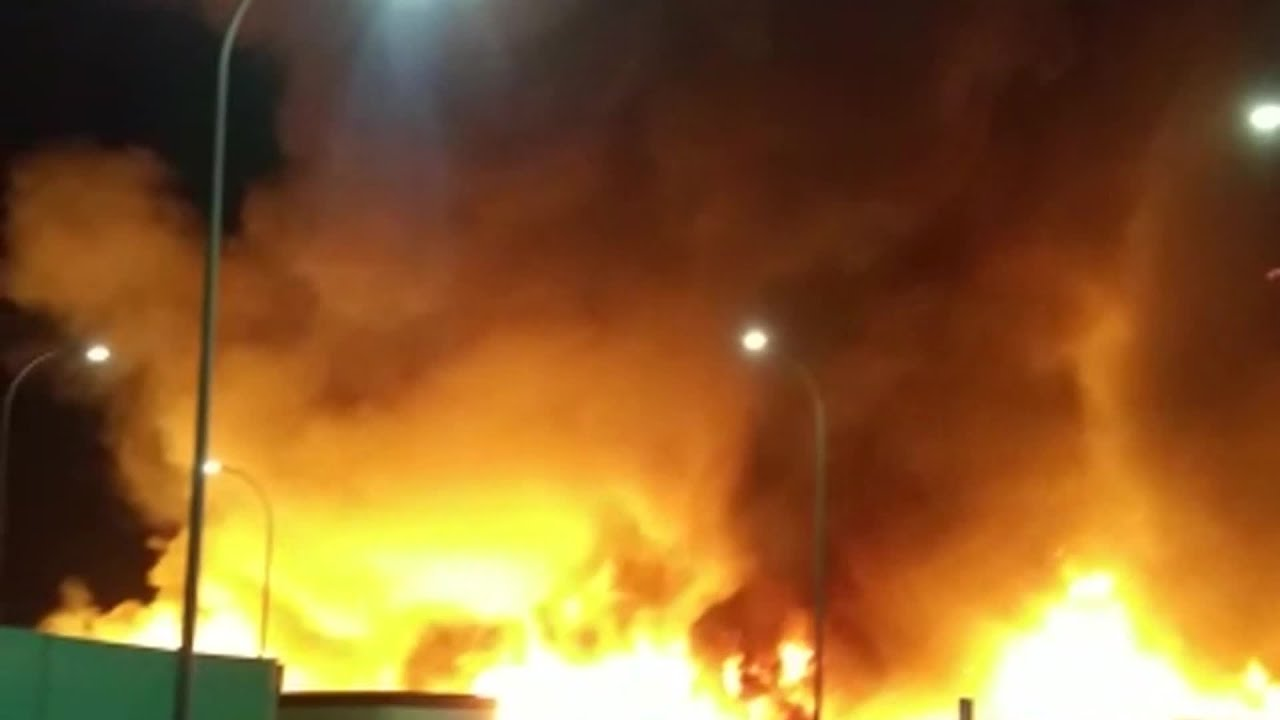 Evacuado un poblado chabolista en Lepe (Huelva)