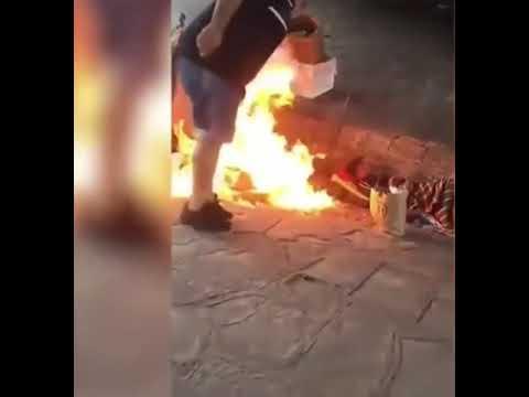 Salvaje agresión en Argentina al intentar quemar vivos a indigentes