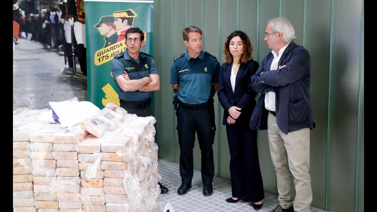 Un alijo de más de 20 millones de euros en cocaína