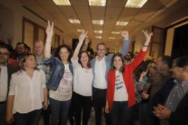 Armengol tiene casi 3.000 votos más que Hila en Palma e Isern 1.503 más que Company