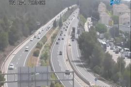 Los conductores, indignados por la falta de señalización de obras en la autopista de Andratx