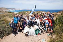 'Plogging' en las playas de Menorca