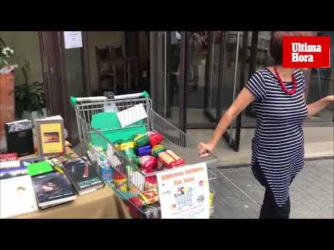'Paraules que alimenten' ofrece libros a cambio de alimentos en Can Sales