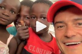 Orlando Bloom, solidario con los niños en Mozambique