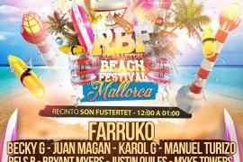 Becky G, Juan Magan y Karol G, en el Reggaeton Beach Festival de Son Fusteret