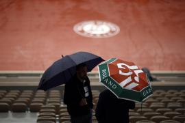 La lluvia suspende la jornada en Roland Garros