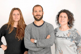 Cati Puigrós, Lluís Andreu Oliver y Sandra Díaz.