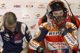Tensión entre Lorenzo y Márquez en Montmeló