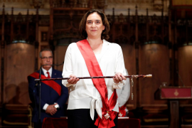 Ada Colau, reelegida alcaldesa de Barcelona con los votos de BComú, PSC y tres de Valls