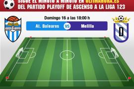 Así hemos vivido en directo el Atlético Baleares-Melilla