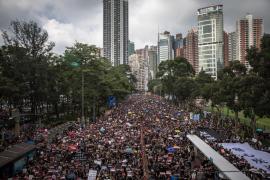 Más de un millón de manifestantes en las calles de Hong Kong