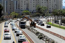 Malestar por las obras frente al Palacio de Congresos en verano