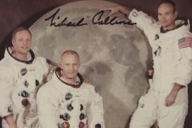 Encuentran una foto inédita de la tripulación del Apolo 11