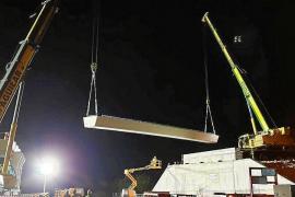 El puente para el acceso de la autopista a Lloseta comienza a cobrar forma