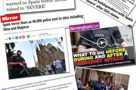 Alarma en Baleares por las falsas alertas de terrorismo que se publican en el Reino Unido
