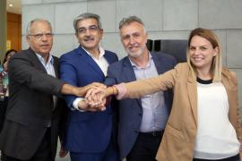 El PSOE, Nueva Canarias, Podemos y ASG, el partido de Curbelo, pactan para gobernar en Canarias