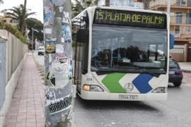 Refuerzo de buses de la EMT por el partido del Mallorca y San Juan