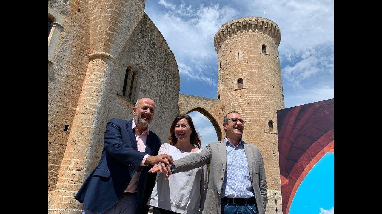 PSIB-PSOE, Més y Podemos sellan su pacto de gobierno en Bellver