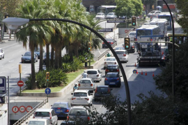 La Avenida Alexandre Rosselló se reducirá a tres carriles por obras