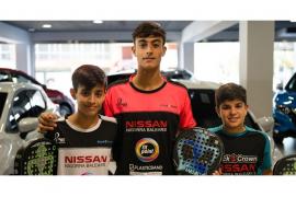 Nissan Nigorra, con los campeones de Padel