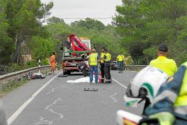 Un motorista muere en un accidente de tráfico en la carretera de Sant Rafel