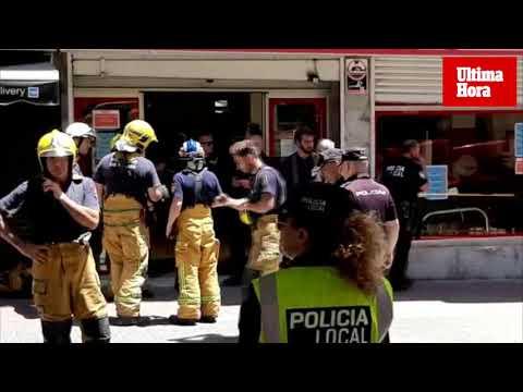 Derrumbe en un supermercado del centro de Palma