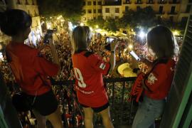 Recorrido por Palma de los jugadores para celebrar el ascenso