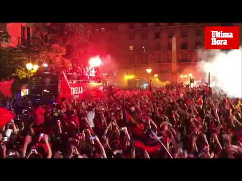 Así se ha vivido la fiesta del ascenso a Primera del Real Mallorca
