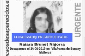 Localizada en buen estado la menor desaparecida en Vilafranca