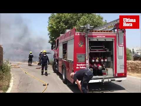 El aparatoso incendio en Secar de la Real ha afectado a siete hectáreas