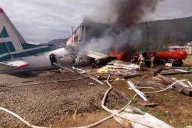 Al menos dos muertos y siete heridos tras un aterrizaje de emergencia en el sur de Rusia