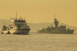 El buque oceanográfico Miguel Oliver evalúa en Palma el Mediterráneo