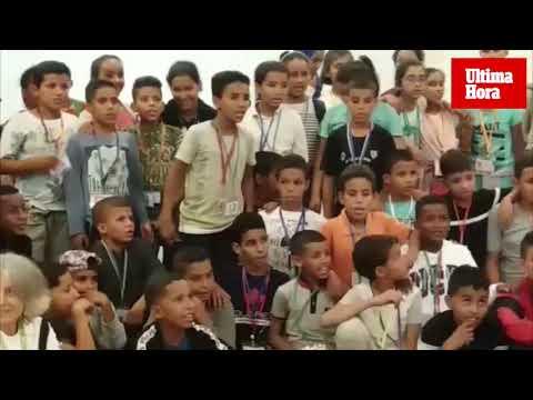 Del desierto al mar: 90 niños del campo de refugiados del Sáhara llegan a Mallorca