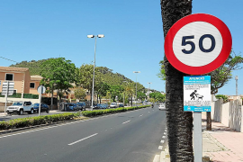 La policía pone 40 multas diarias por exceso de velocidad en el acceso a Cala Rajada