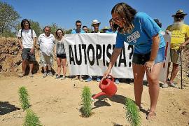 El colectivo Mallorca Lliure reclama la paralización de las obras de la autopista de Campos