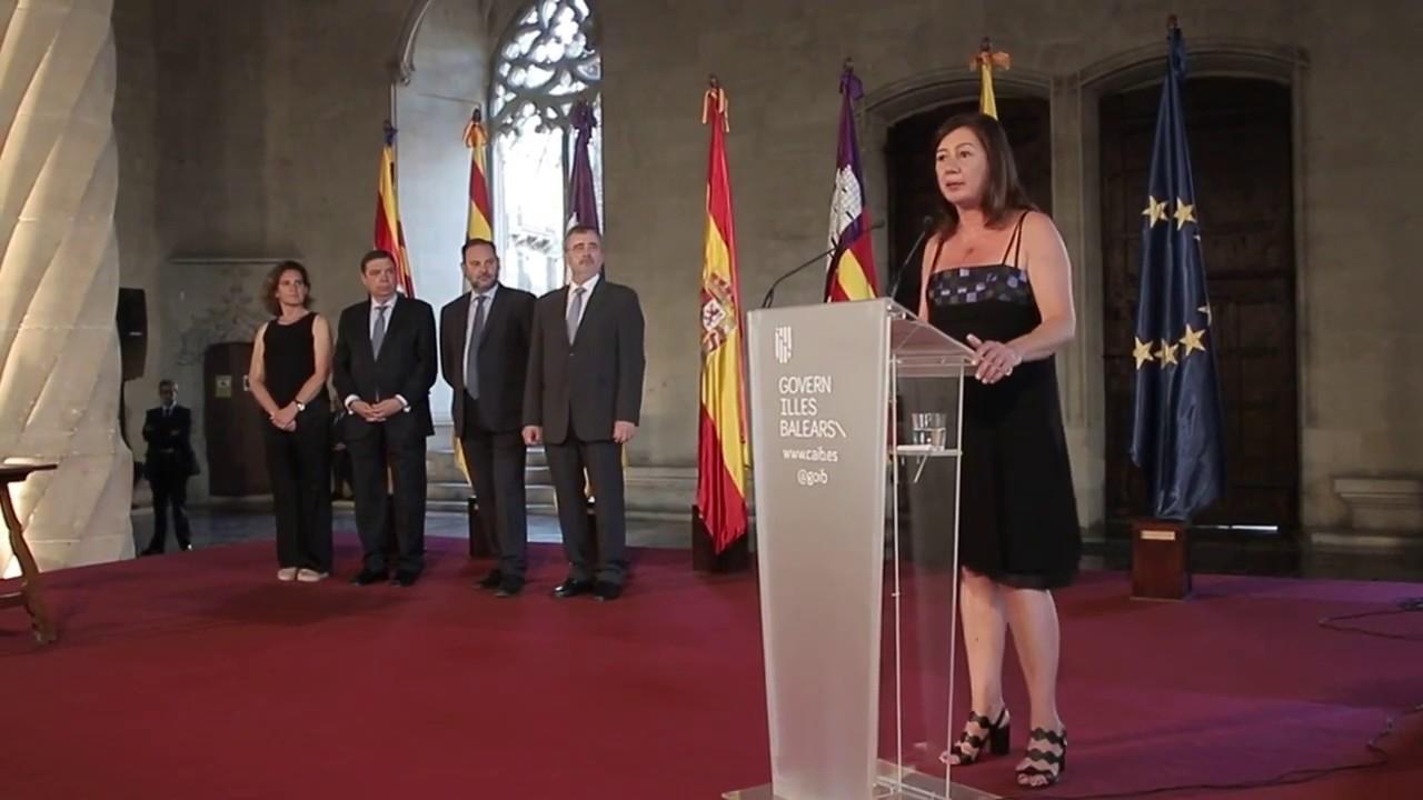 Armengol arranca su segundo mandato como presidenta de Baleares prometiendo «lealtad a la gente»