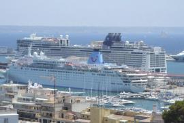 Cruceros en el puerto de Palma
