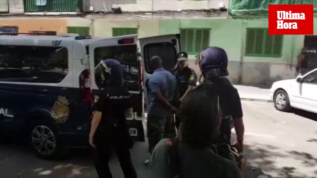 Operación policial en Palma contra el tráfico de droga