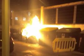 Nuevos contenedores quemados en Palma
