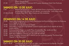 Portinatx vivirá cuatro días intensos de fiestas desde el jueves 11 al domingo 14 de julio