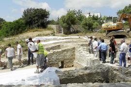 El Consell se marca como objetivo abrir al público las termas romanas de Son Servera