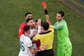 Messi, expulsado por segunda vez en su carrera