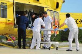 Herido grave un hombre de 83 años que sufrió una caída en una casa de es Figueral