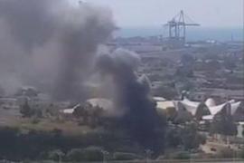 Incendio en el Oceanográfico de Valencia