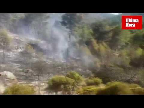 Incendio en Cala en Basset, Andratx